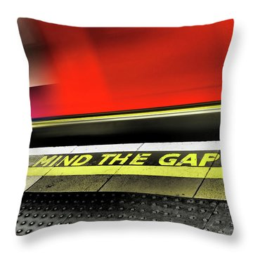 Mind The Gap Throw Pillow by Rona Black