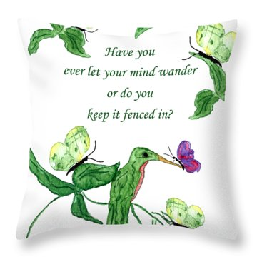 Throw Pillow featuring the painting Mind Wander by Belinda Landtroop