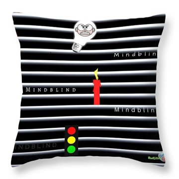 Mindblind Throw Pillow