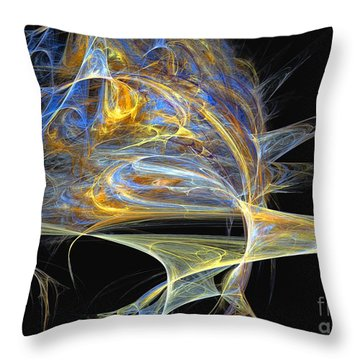 Throw Pillow featuring the digital art Mindblow by Sipo Liimatainen