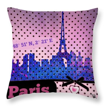 Mindy Jo's Paris  Throw Pillow by Mindy Bench