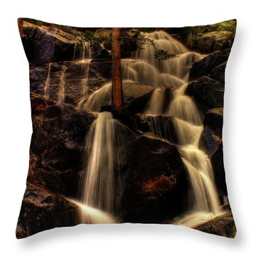 Quaking Aspen Falls Along Tioga Pass  Throw Pillow