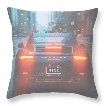 Mine In The Rain Throw Pillow
