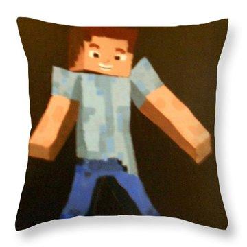 Minecraft Steve Throw Pillow