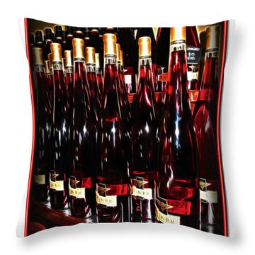 Throw Pillow featuring the photograph Miner Pink Sparkling Wine by Joan  Minchak