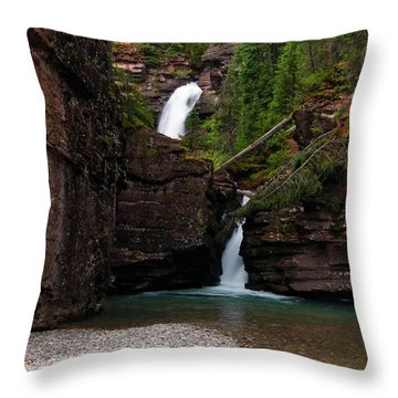 Throw Pillow featuring the photograph Mineral Creek Falls by Steve Stuller