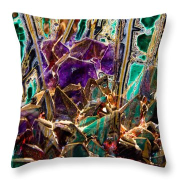 Mineral Maelstrom Throw Pillow