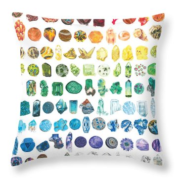 Mineral Marvels Throw Pillow