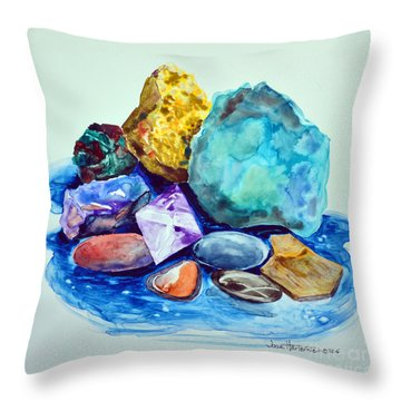 Minerals And Beachstones Throw Pillow