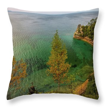 Throw Pillow featuring the photograph Miners Castle 2 by Heather Kenward