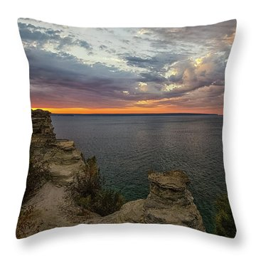 Throw Pillow featuring the photograph Miners Castle 3 by Heather Kenward
