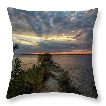 Throw Pillow featuring the photograph Miners Castle 4 by Heather Kenward