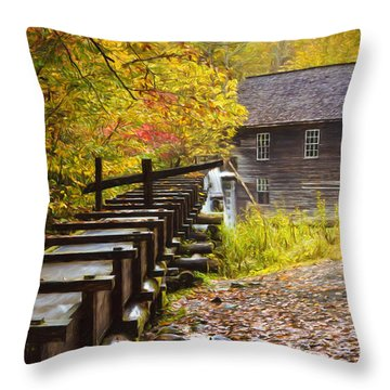Mingus Mill Painted Throw Pillow