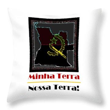 Minha Terra Throw Pillow