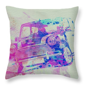 Mini Cooper Throw Pillow by Naxart Studio