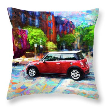 Mini Cooper Series 3 Throw Pillow