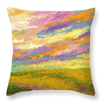 Mini Landscape V Throw Pillow