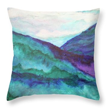 Mini Mountains Majesty Throw Pillow