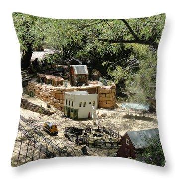 Mini Town Throw Pillow