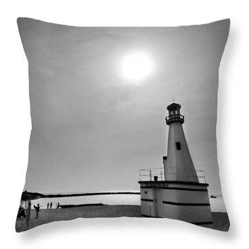 Miniature Lighthouse Throw Pillow by John Hansen