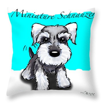 Miniature Schnauzer Throw Pillow by Catia Cho