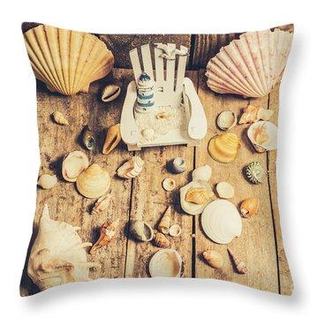 Miniature Sea Escape Throw Pillow