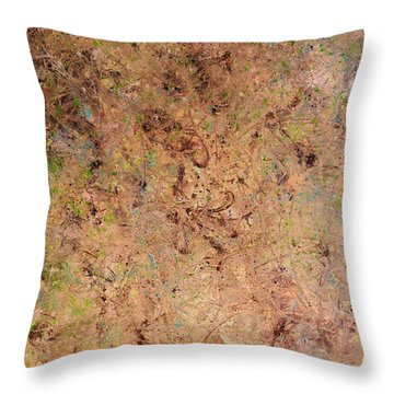 Throw Pillow featuring the painting Minimal 7 by James W Johnson