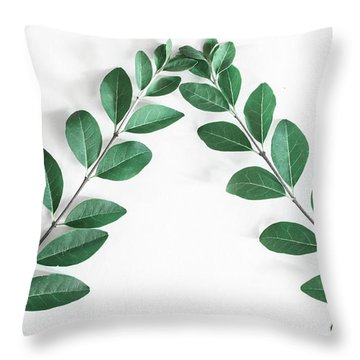 Throw Pillow featuring the photograph Minimal Green 2 by Andrea Anderegg