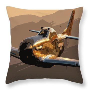 Minimal Mustang Throw Pillow