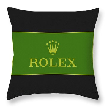 Minimal Rolex Logo Throw Pillow