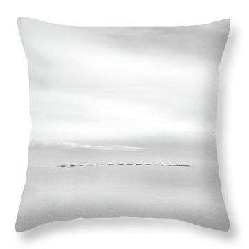 Minimal Sea Throw Pillow