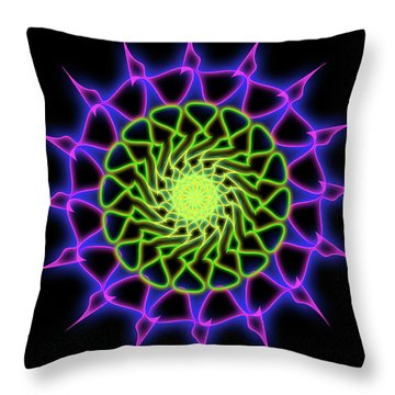 Minimal Trance Throw Pillow