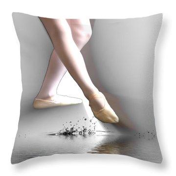 Minimalist Ballet Throw Pillow by Angel Jesus De la Fuente