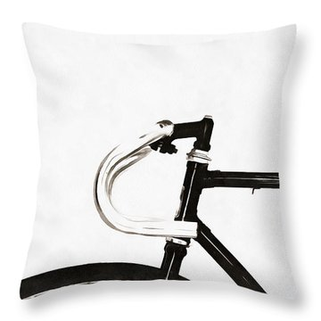 Minimalist Bicycle Painting Throw Pillow