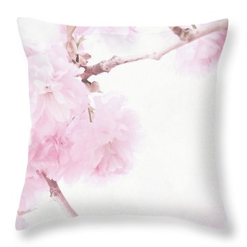 Minimalist Cherry Blossoms Throw Pillow