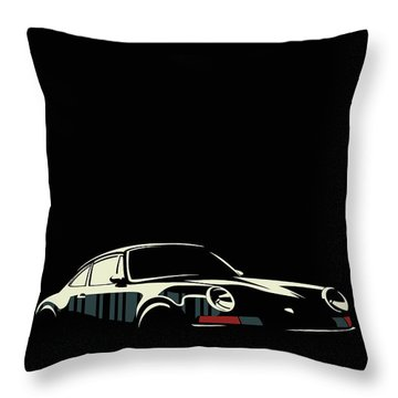 Minimalist Porsche Throw Pillow