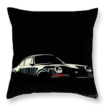 Minimalist Porsche Throw Pillow