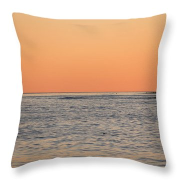 Minimalist Sunset Throw Pillow