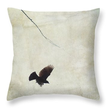 Minimalistic Bird In Flight  Throw Pillow by Aimelle