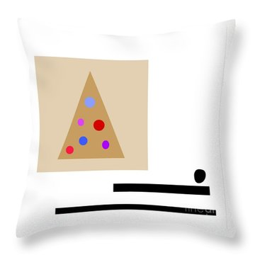 Throw Pillow featuring the digital art Minimalistic Christmas by Jessica Eli