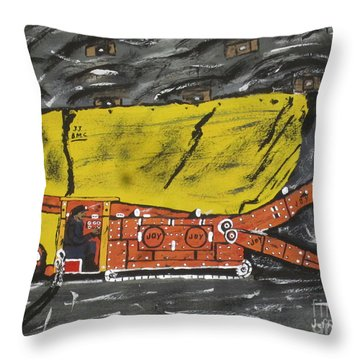 Coal Mining  Throw Pillow by Jeffrey Koss
