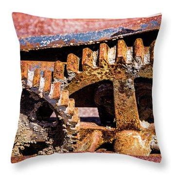 Mining Gears Throw Pillow by Onyonet  Photo Studios
