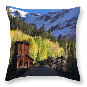 Mining Ruins Throw Pillow by Steve Stuller