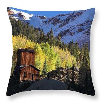 Mining Ruins Throw Pillow