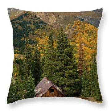 Mining Shack Throw Pillow