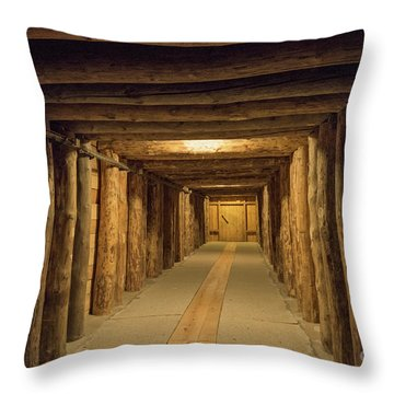 Throw Pillow featuring the photograph Mining Tunnel by Juli Scalzi