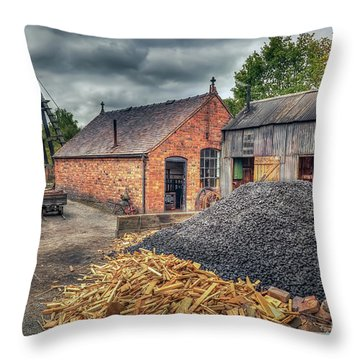 Throw Pillow featuring the photograph Mining Village by Adrian Evans