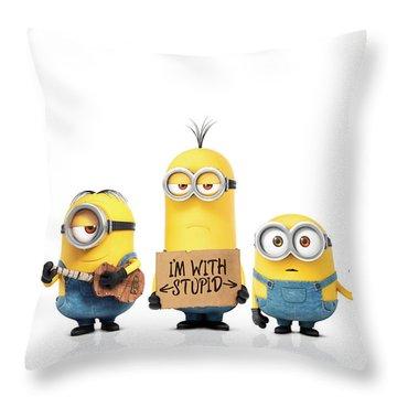 Minions 2015 Throw Pillow