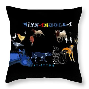Minnamoolka Station Throw Pillow