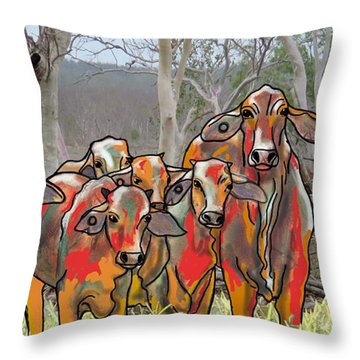 Minnamooooo...cows Throw Pillow